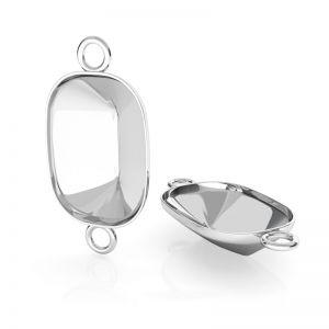 Srebrna zawieszka łącznik baza do prostokątnych kryształów Cushion Fancy Stone, OKSV 4568 MM 14,0X 10,0 CON 2 ver.2