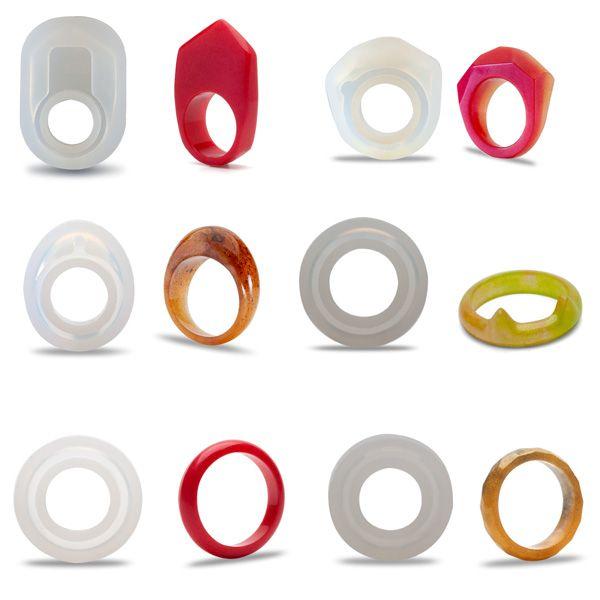 Silikonowe formy do odlewania pierścionków z żywicy, SRM 001