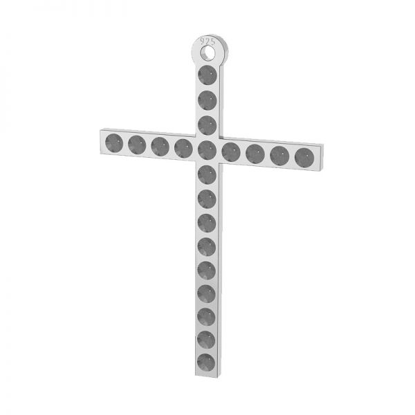 Zawieszka krzyż, baza do wklejania kryształów Swarovski, srebro 925, LKM-2119 - 0,80 (1028 PP 4)