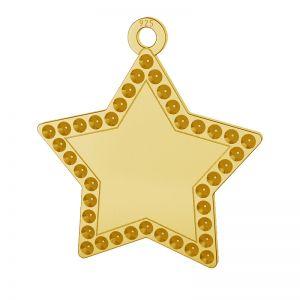 Zawieszka gwiazda, baza do wklejania kryształów Swarovski, srebro 925, LKM-2132 - 0,80 (1028 PP 4)