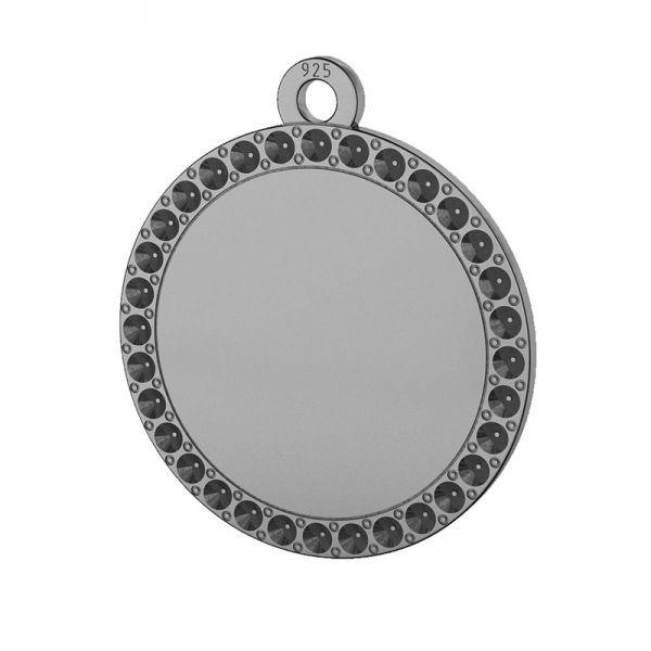 Okrągła zawieszka, baza do wklejania kryształów Swarovski, srebro 925, LKM-2133 - 0,80 (1028 PP 4)