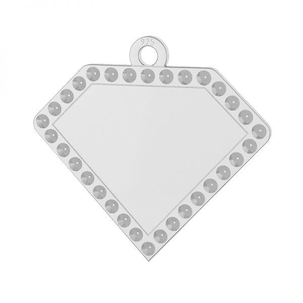 Zawieszka diament, baza do wklejania kryształów Swarovski, srebro 925, LKM-2142 - 0,80 (1028 PP 4)