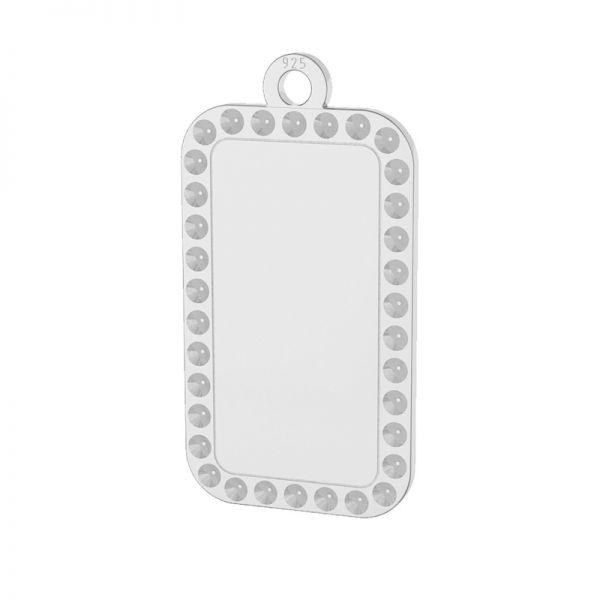 Zawieszka prostokat, nieśmiertelnik, baza do wklejania kryształów Swarovski, srebro 925, LKM-2140 - 0,80 (1028 PP 4)