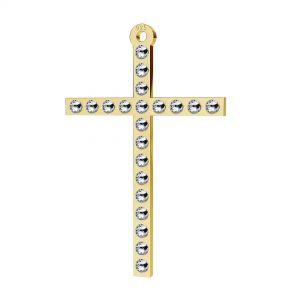 Zawieszka krzyż z kryształami Swarovski, srebro 925, LKM-2119 - 0,80 ver.2
