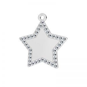 Zawieszka gwiazda wysadzana kryształami Swarovskiego, srebro 925, LKM-2132 - 0,80 ver.2