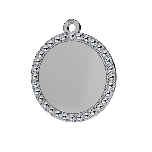 Okrągła zawieszka wysadzana kryształami Swarovskiego, srebro 925, LKM-2133 - 0,80 ver.2