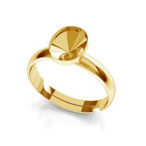 Srebrny pierścionek baza do Swarovskiego Rivoli Owal, OKSV 4122 MM  8,00 UNIVERSAL RING