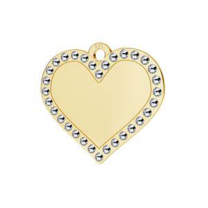 Zawieszka serce wysadzana kryształami Swarovskiego, srebro 925, LKM-2139 - 0,80 ver.2