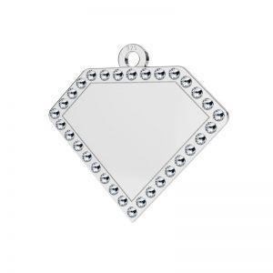 Diament srebrna zawieszka z kryształami Swarovskiego, srebro 925, LKM-2142 - 0,80 ver.2