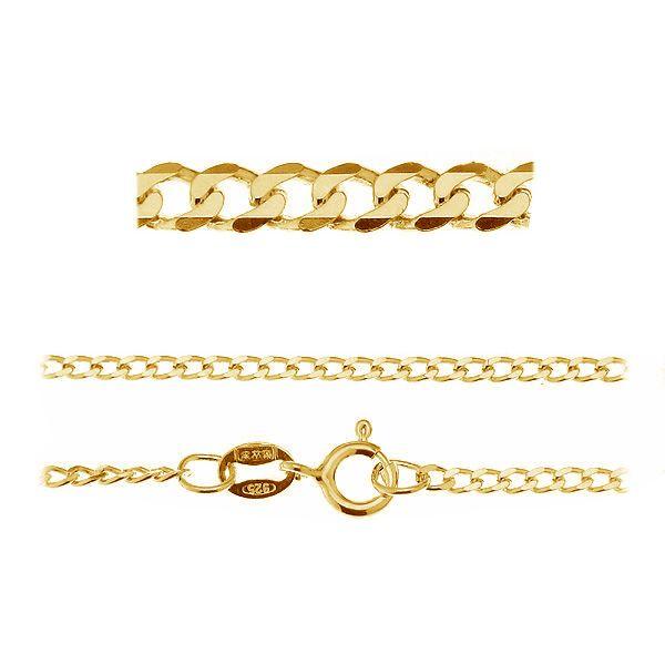 PD  50 (19-22 cm) - złocona lub rodowana bransoletka pancerka