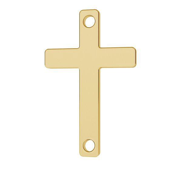 Złota zawieszka łącznik - prosty krzyż