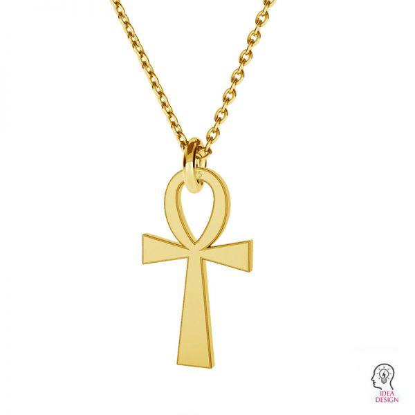 Krzyż egipski, anch, zawieszka srebro 925, LKM-2130