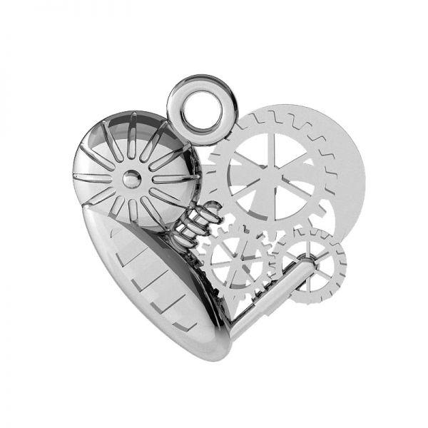 Mechaniczne serce zawieszka, srebro 925, ODL-00521