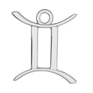 Znak zodiaku Bliźnięta zawieszka, srebro próby 925, ODL-00570