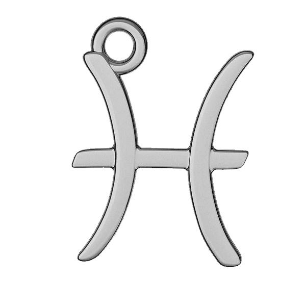 Znak zodiaku Ryby zawieszka, srebro próby 925, ODL-00528