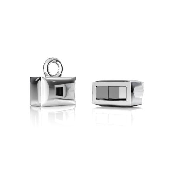 Zakończenie do rzemyków*srebro AG 925*ODL-00561 7,90x6,90 mm