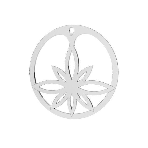 Zawieszka kwiat lotosu*srebro AG 925*LKM-2163 - 0,50 30 mm