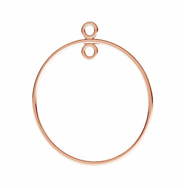Kolczyk koło z kółeczkiem do podwieszania*srebro AG 925*EARRING 022 29,0x24,0 mm
