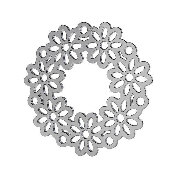 Zawieszka łącznik ażurowy - rozeta - kwiat*srebro AG 925*LKM-2179 - 0,50 22x22 mm