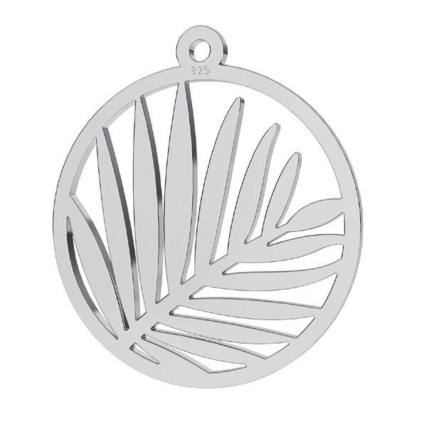 Zawieszka ażurowa - liście palmy*srebro AG 925*LKM-2178 - 0,50 18x19 mm