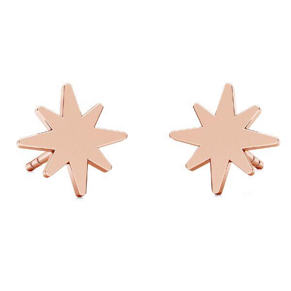 Kolczyk sztyft - gwiazdka*srebro AG 925*KLS LKM-2239 - 0,50 8,5x8,5 mm