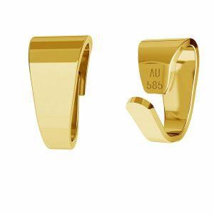 Złoty prosty krawat zaciskany do podwieszania*złoto AU 585*KR LKZ-50008 - 03 4x7,7 mm