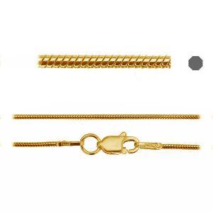 Łańcuszek typu Snake z zamkiem CHR z zamkiem AU/RH*srebro AG 925*SN 020 DC8L 45-50 cm