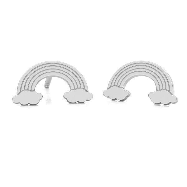 Kolczyk sztyft - tęcza*srebro AG 925*KLS LKM-2261 - 0,50 5,5x10 mm