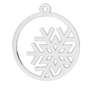 Zawieszka ażurowa - płatek śniegu*srebro AG 925*LKM-2257 - 0,50 17x19 mm