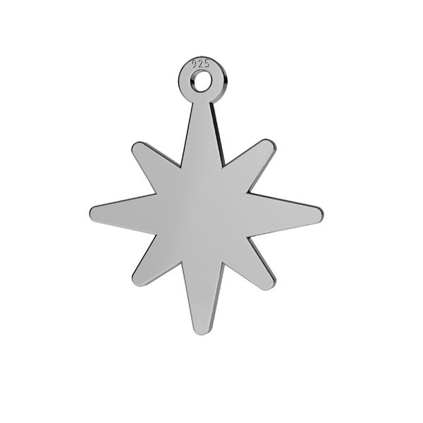 Zawieszka ażurowa - gwiazda*srebro AG 925*LKM-2252 - 0,50 15,5x15,8 mm