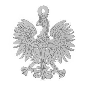 Orzeł godło zawieszka ze srebra 925, LKM-2041