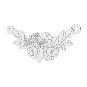 Zawieszka łącznik - bukiet kwiatów*srebro AG 925*LKM-2245 - 0,50 12x26 mm