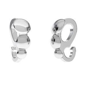 Krawat z kółkiem do podwieszania - muszelka*srebro AG 925*ODL-00597 3,2x8,1 mm