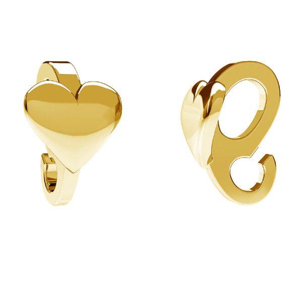 Krawat z kółkiem do podwieszania - serce*srebro AG 925*ODL-00598 5,3x8,1 mm