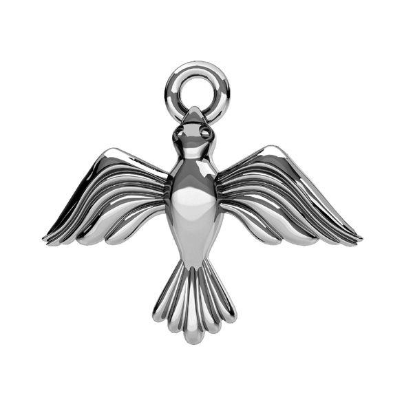 Zawieszka z kółkiem - ptak*srebro AG 925*ODL-00608 14,5x17 mm