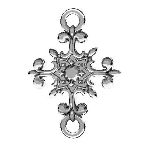 Zawieszka łącznik - krzyż ozdoba*srebro AG 925*ODL-00600 11,5x16 mm