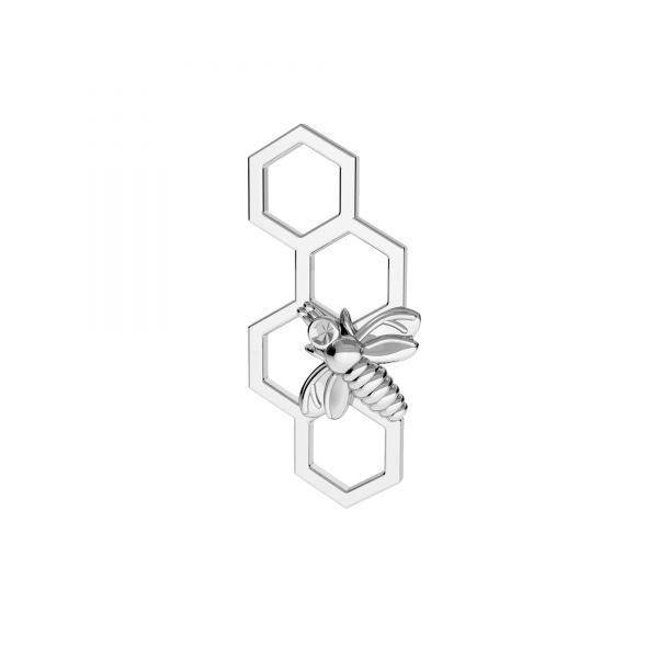 Zawieszka łącznik - pszczoła plaster miodu*srebro AG 925*ODL-00606 14,5x14,5 mm