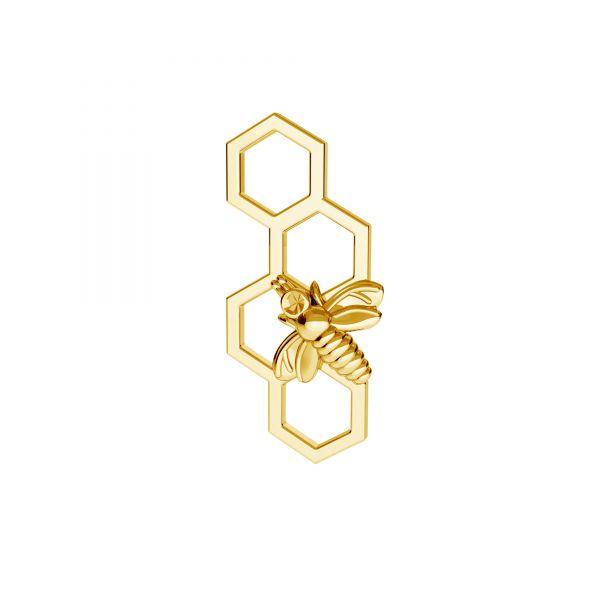 Zawieszka łącznik - pszczoła plaster miodu*srebro AG 925*ODL-00606 7,5x16,8 mm