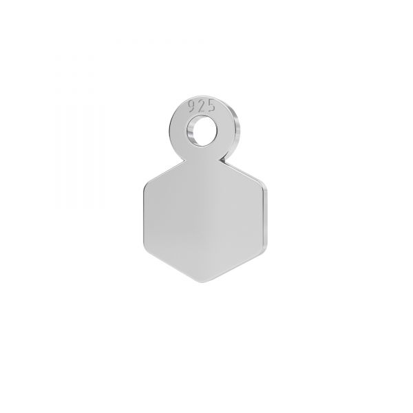 Mini zawieszka - sześciokąt*srebro AG 925*LKM-2339 - 0,50 6,5x9 mm