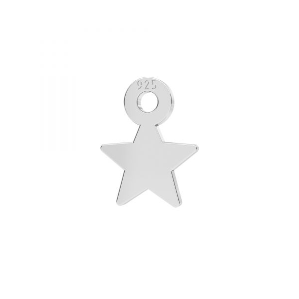 Mini zawieszka - gwiazda*srebro AG 925*LKM-2336 - 0,50 7x8,3 mm