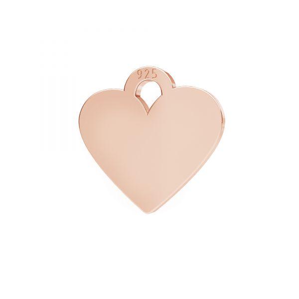 Mini zawieszka - serce*srebro AG 925*LKM-2335 - 0,50 8,3x9 mm