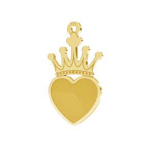 Zawieszka - korona - baza do Heart Flat Back*srebro AG 925*LKM-23303 - 0,50 11,6x20,1 mm (2808 MM 10)