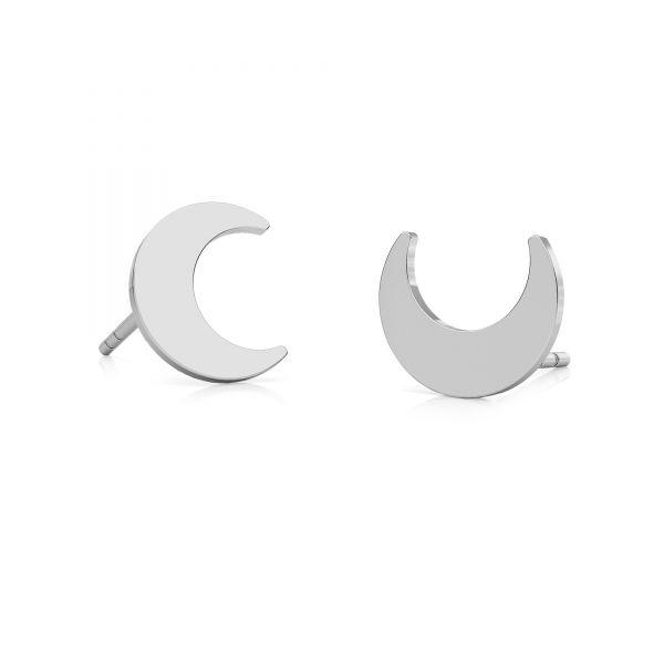Kolczyk sztyft - księżyc*srebro AG 925*KLS LKM-2296 - 0,50 7,5x9 mm