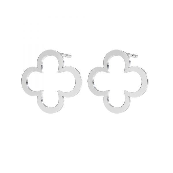 Kolczyk sztyft - koniczyna*srebro AG 925*KLS LKM-2291 - 0,50 13x13 mm
