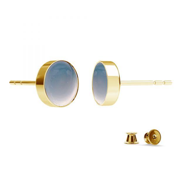 Kolczyk sztyft - miseczka do żywicy*srebro AG 925*KLS FMG-R - 2,10 7 mm