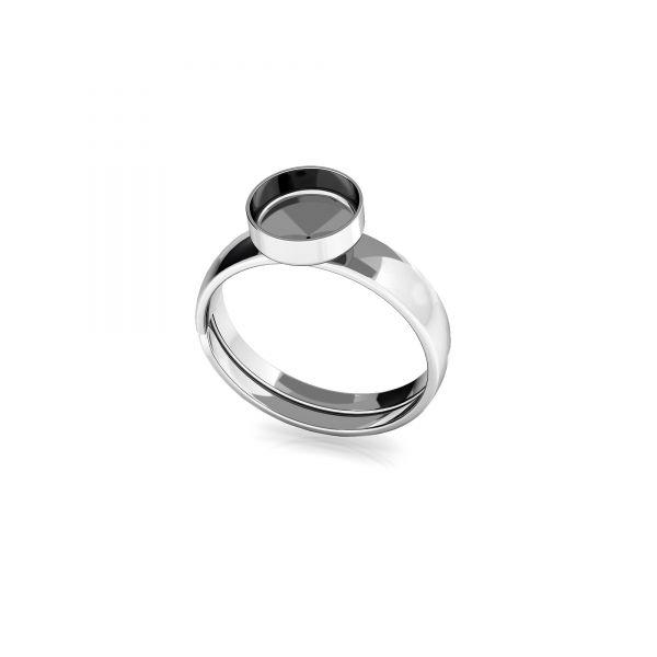 Pierścionek uniwersalny - okrągła miseczka do żywicy*srebro AG 925*U-RING FMG-R - 2,10 7 mm