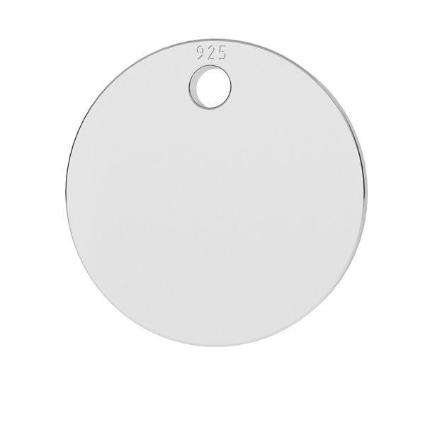 Okrągła blaszka zawieszka ze srebra próby 925, LKM-2001