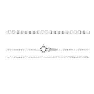 Łańcuszek typu Kostka z zamkiem*srebro AG 925*KV 015 4L (50 cm)