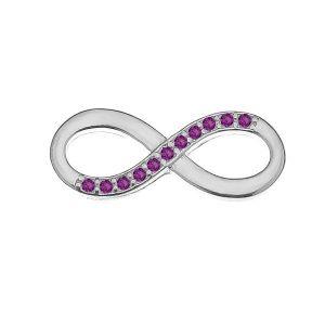 Zawieszka łącznik - znak nieskończoności z kryształami Swarovskiego*srebro AG 925*INFINITY 72 ver.2 7,9x19,5 mm
