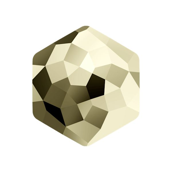 4683 MM 12,0X 13,5 CRYSTAL METLGTGOLD F (Metallic Light Gold)